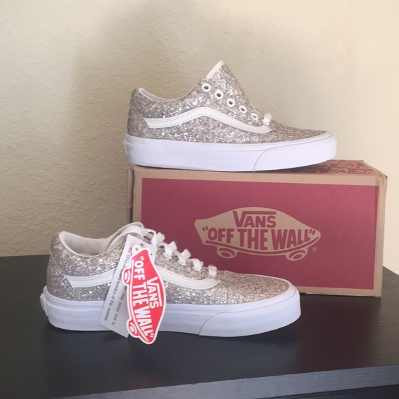 Vans chunky glitter silver shoes Old Skool Boutique